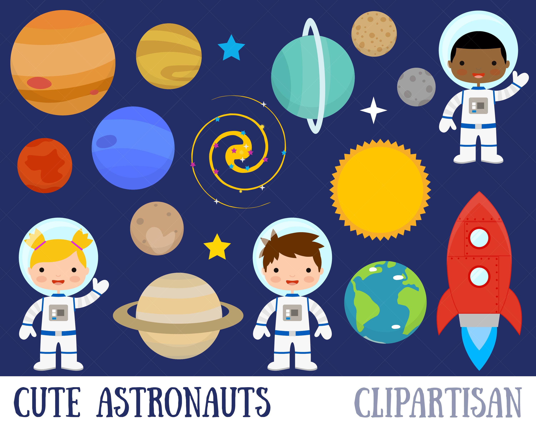Space Clipart / Planets Clipart / Astronaut Clipart / Clip Art.
