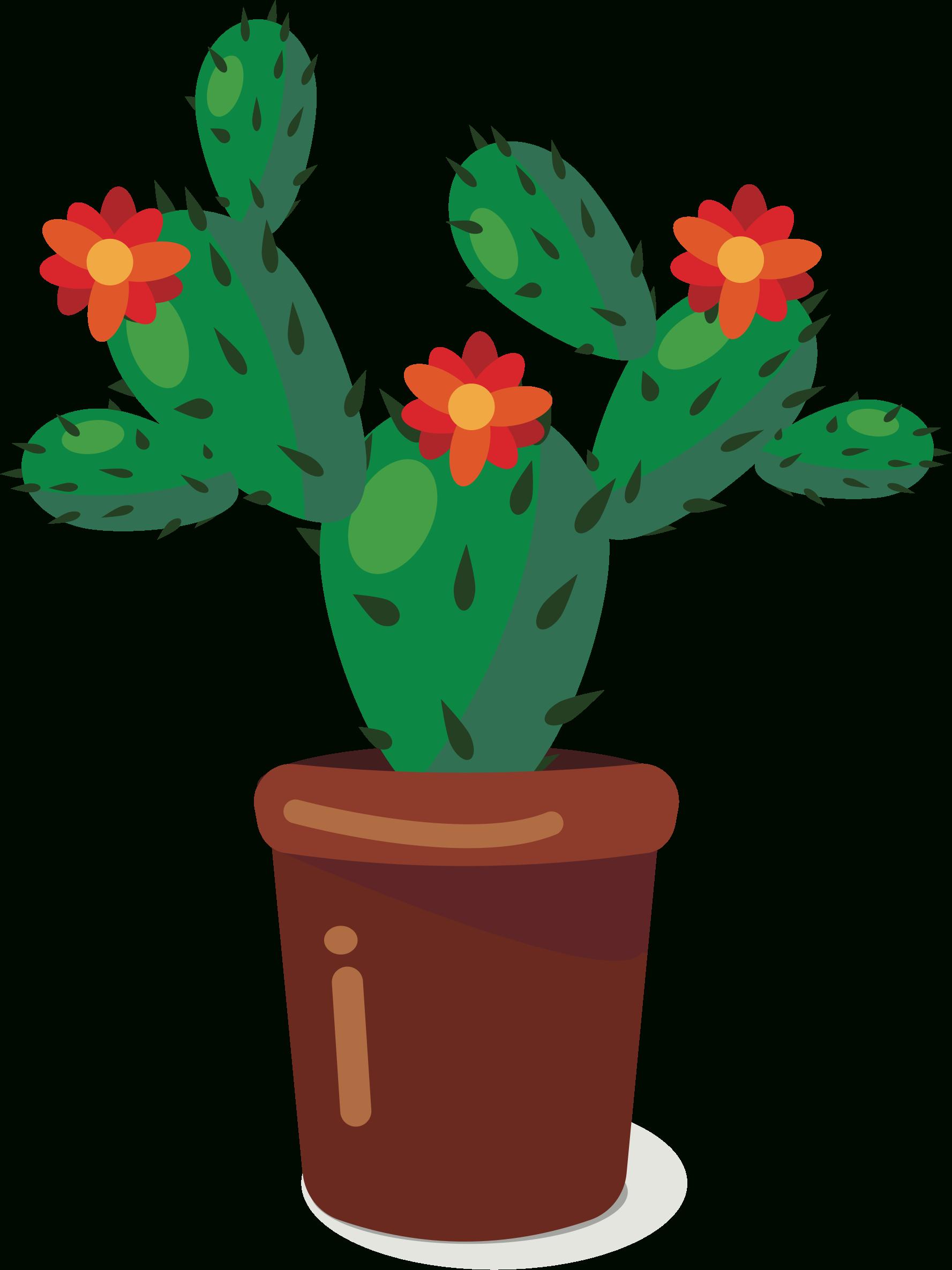 Cute Cactus Clipart.