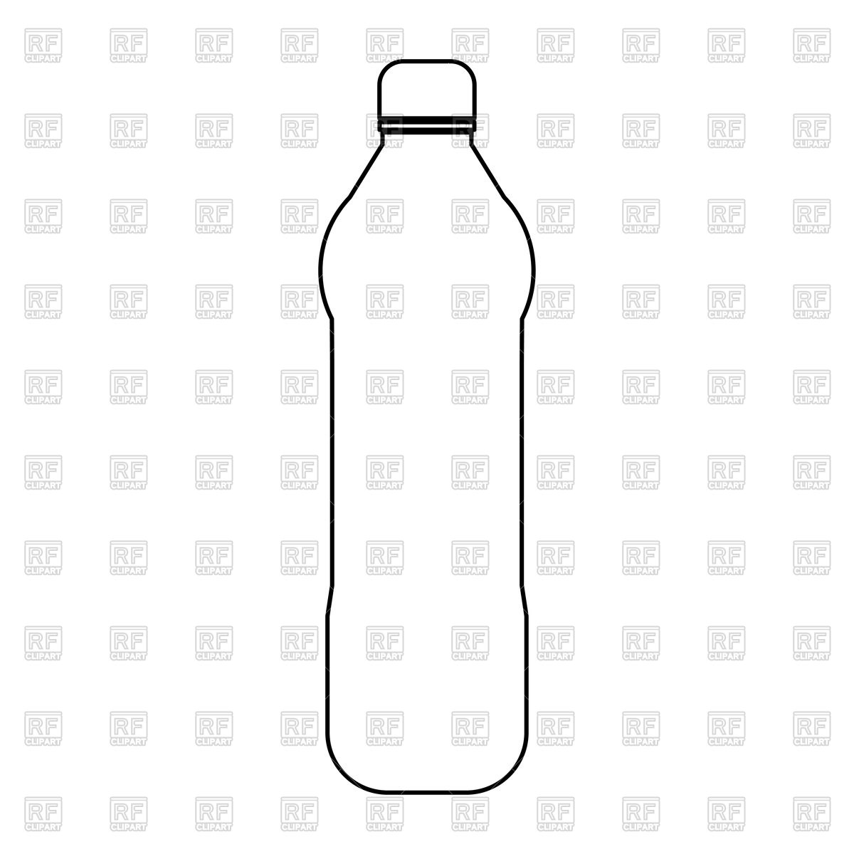 Plastic water bottle outline Stock Vector Image.