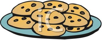 59+ Plate Of Cookies Clipart.