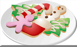 Clipart Plate Christmas Cookies.