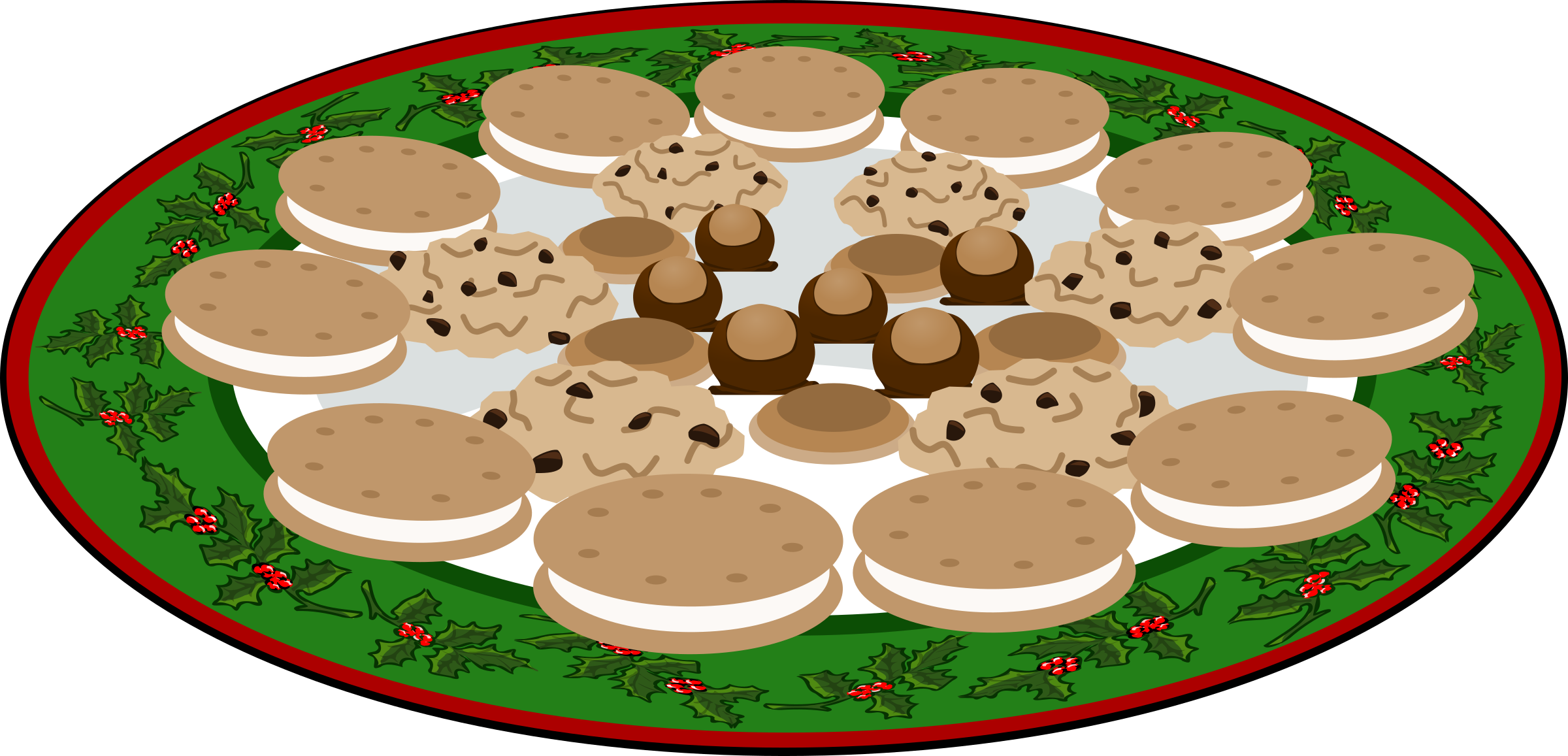 Plate Of Cookies Clipart 7.