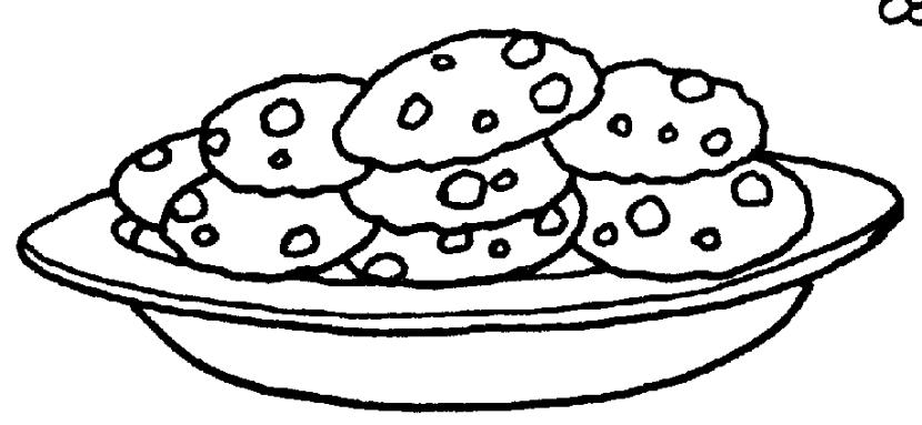 Cookie plate ofokies clipart.