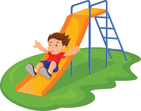 Park clipart playground slide pencil and in color park.