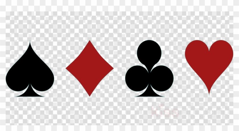Playing Cards Symbols Vector Clipart Contract Bridge.