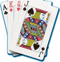 Image result for bridge cards clip art.
