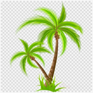 Palm Tree Picnic Clipart.