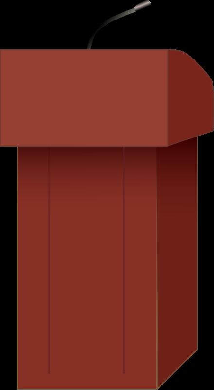Speakers podium Clipart free.