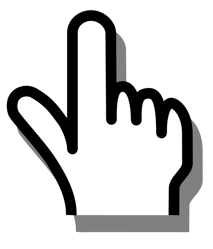 Free Clipart: Pointing finger 01.