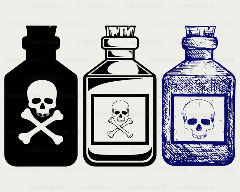 Bottles poison svg/poison clipart/poison svg/poison silhouette/poison  cricut cut files/poison clip art/digital download designs/svg.