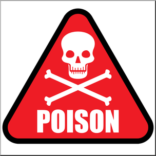 Clip Art: Poison Symbol 1 Color 1 I abcteach.com.
