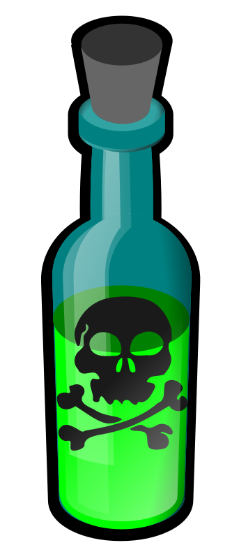 Free Clipart: Poison bottle.