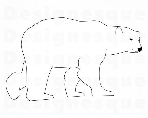 Polar Bear Outline SVG, Polar Bear SVG, Bear Svg, Polar Bear Clipart, Polar  Bear Files for Cricut, Polar Bear Cut Files For Silhouette, Dxf.