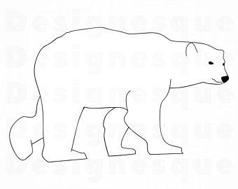 Polar bear clipart.