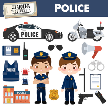 Police Clipart Police Graphics Handcuffs Police Car Police station Police  Office.