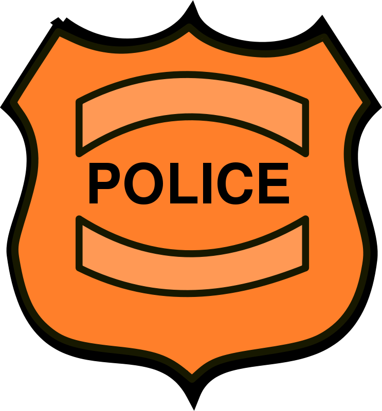 Free Clipart: Police Badge.