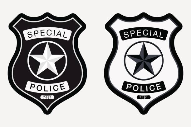 Best Police Badge Illustrations, Royalty.
