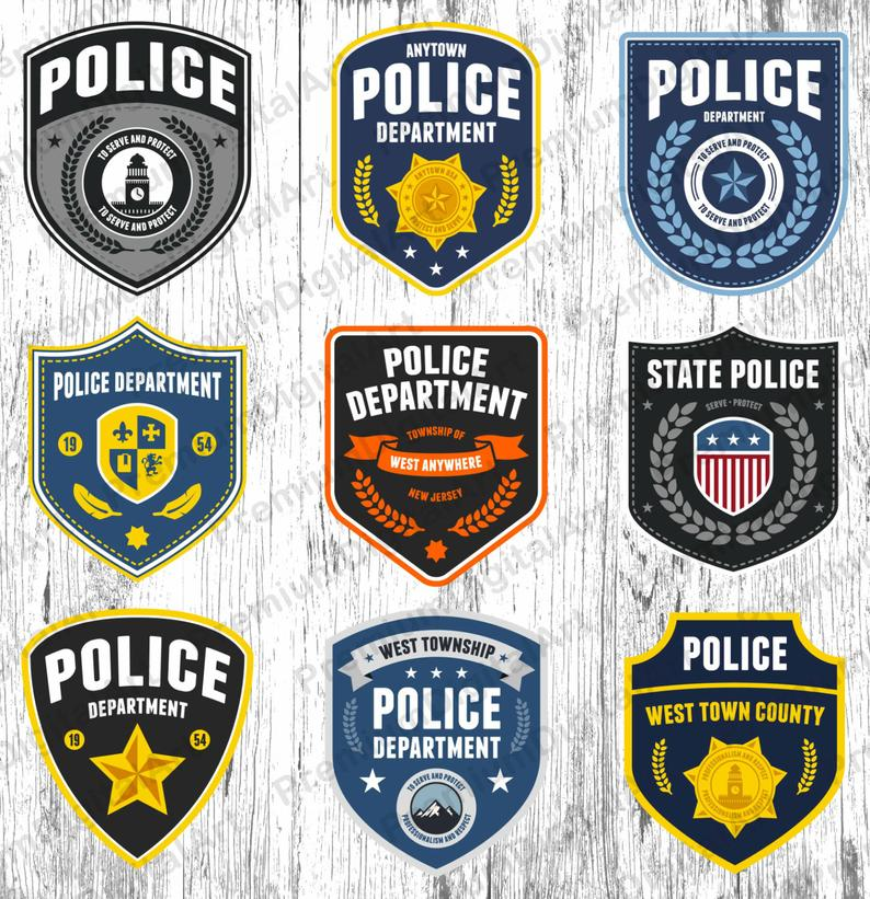 9 Police badge clipart, police clipart, sheriff badge clipart, police  department badge clip, gold Police badge clipart, scrapbooking clipart.