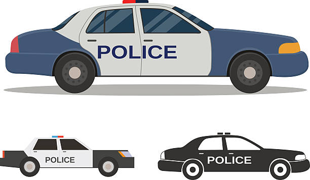 Best Police Car Illustrations, Royalty.