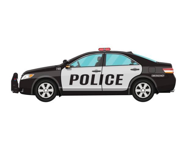 Best Police Car Illustrations, Royalty.