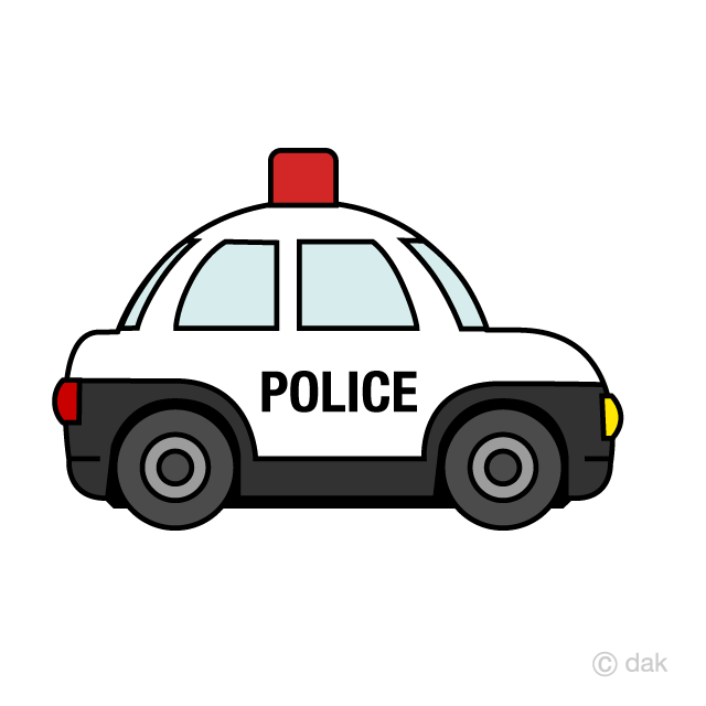 Cute Police Car Clipart Free Picture|Illustoon.