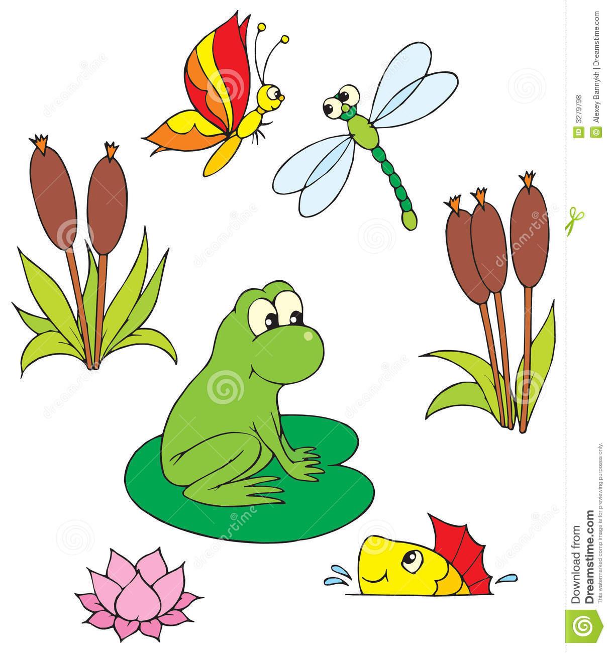 Pond (vector clip.