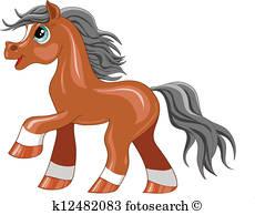 Pony Clip Art Vectors.