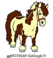 Shetland Pony Clip Art.