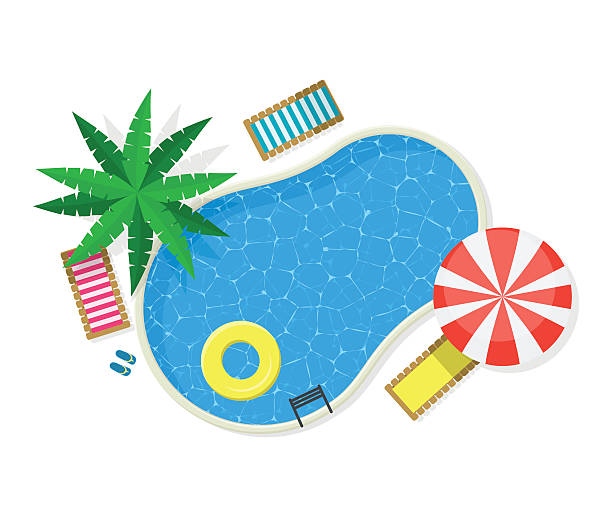 Best Swimming Pool Illustrations, Royalty.