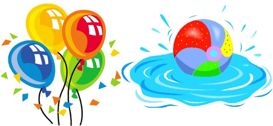 Pool Party Clipart Images.