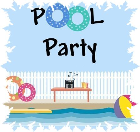 Free pool party clip art clipart clipart.