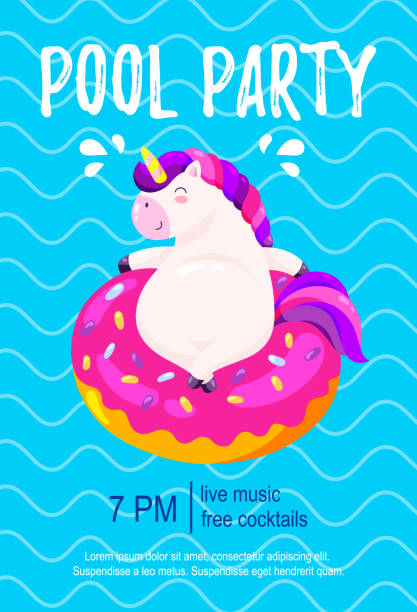 Best Pool Party Illustrations, Royalty.