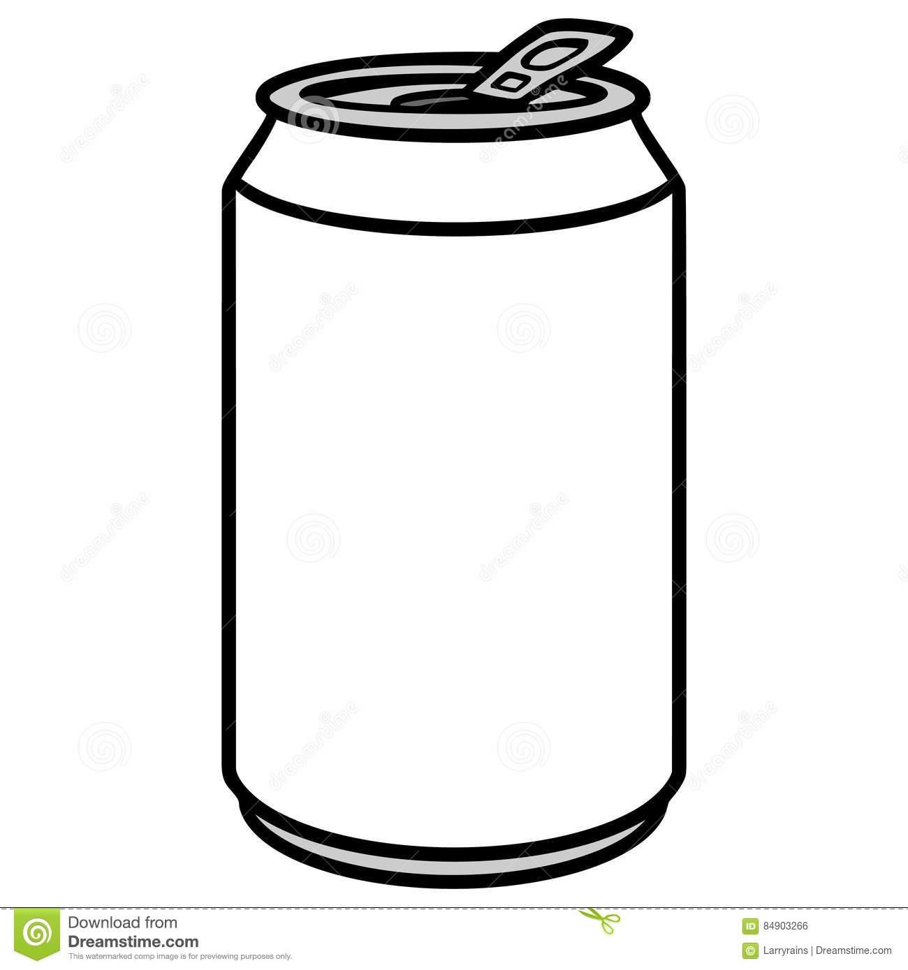 Soda Can Illustration stock vector. Illustration of soda.