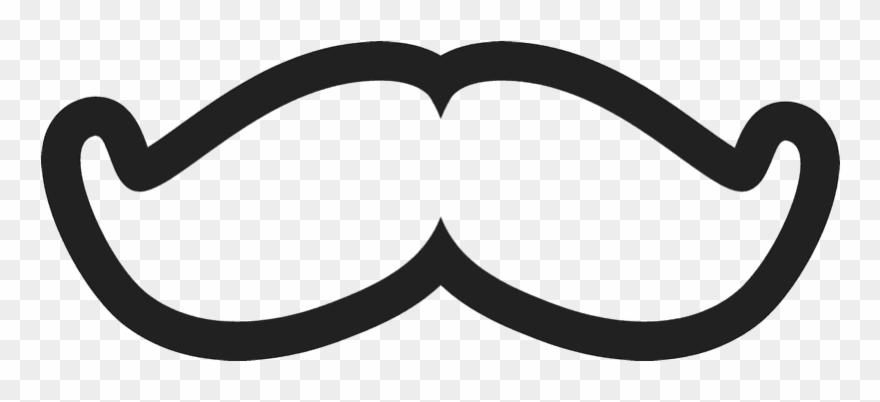 Moustache Clipart Pop Art.