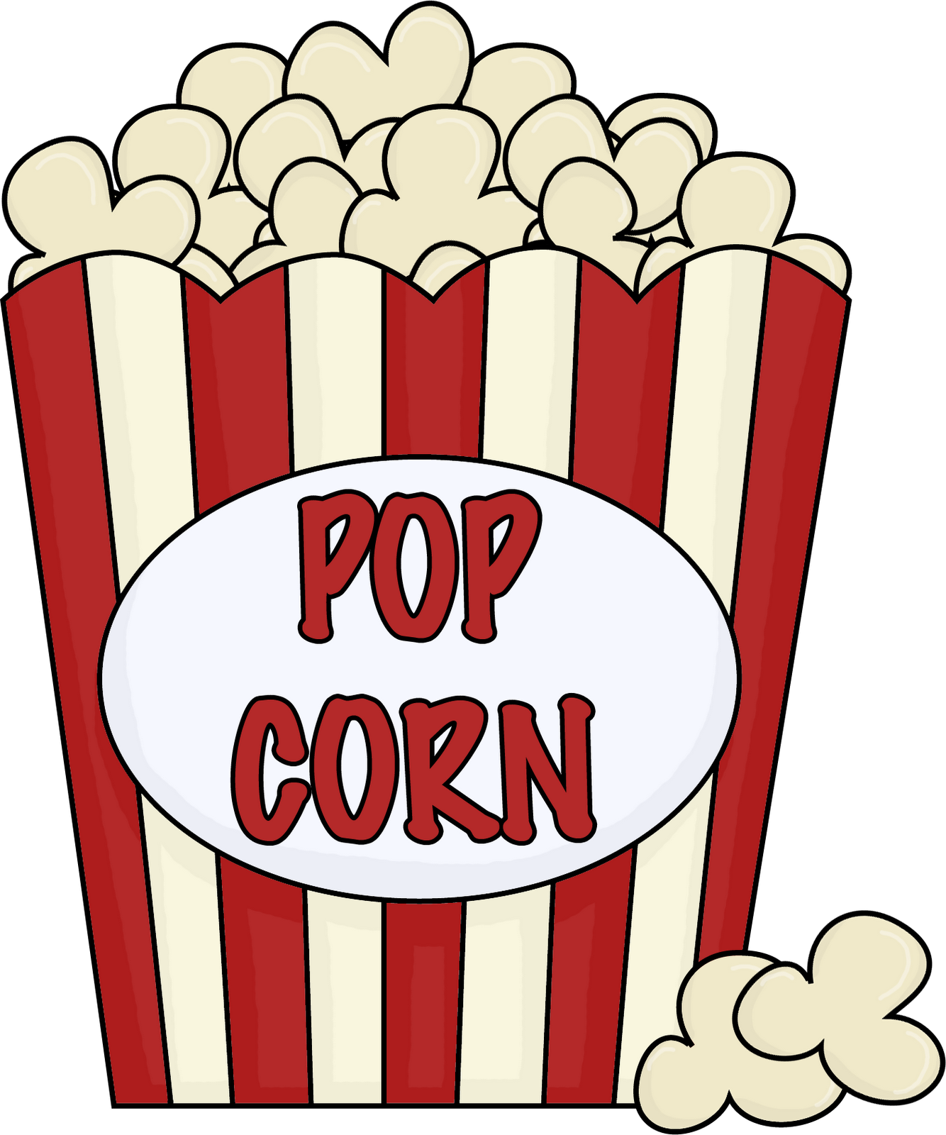Popcorn Clip Art Black And White Free Clipart Images.