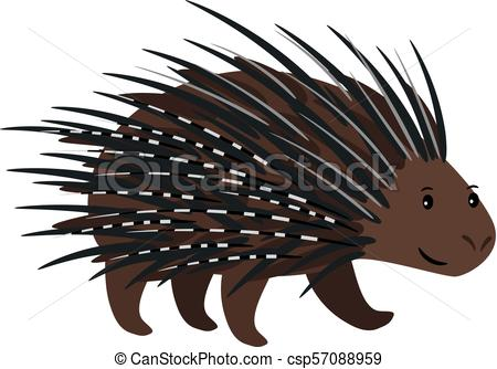 Porcupine icon isolated on white.
