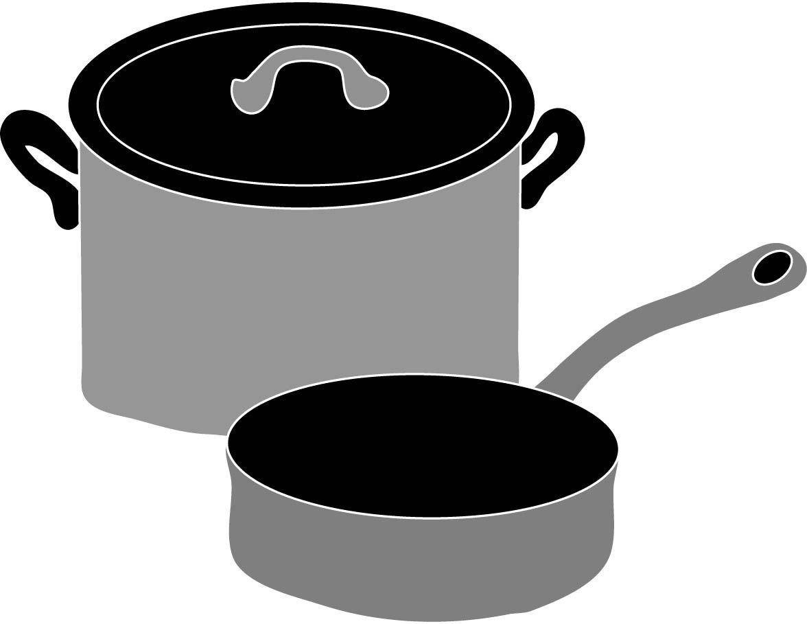 Pots and Pans Clip Art.