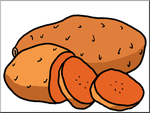Clip Art: Sweet Potatoes Color I abcteach.com.
