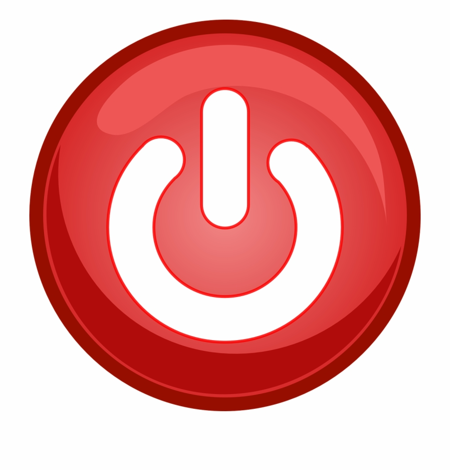 Power Button Off On Red Png Image.