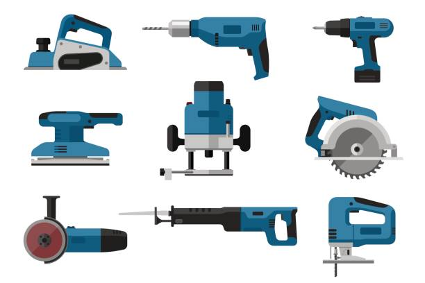 Best Power Tool Illustrations, Royalty.