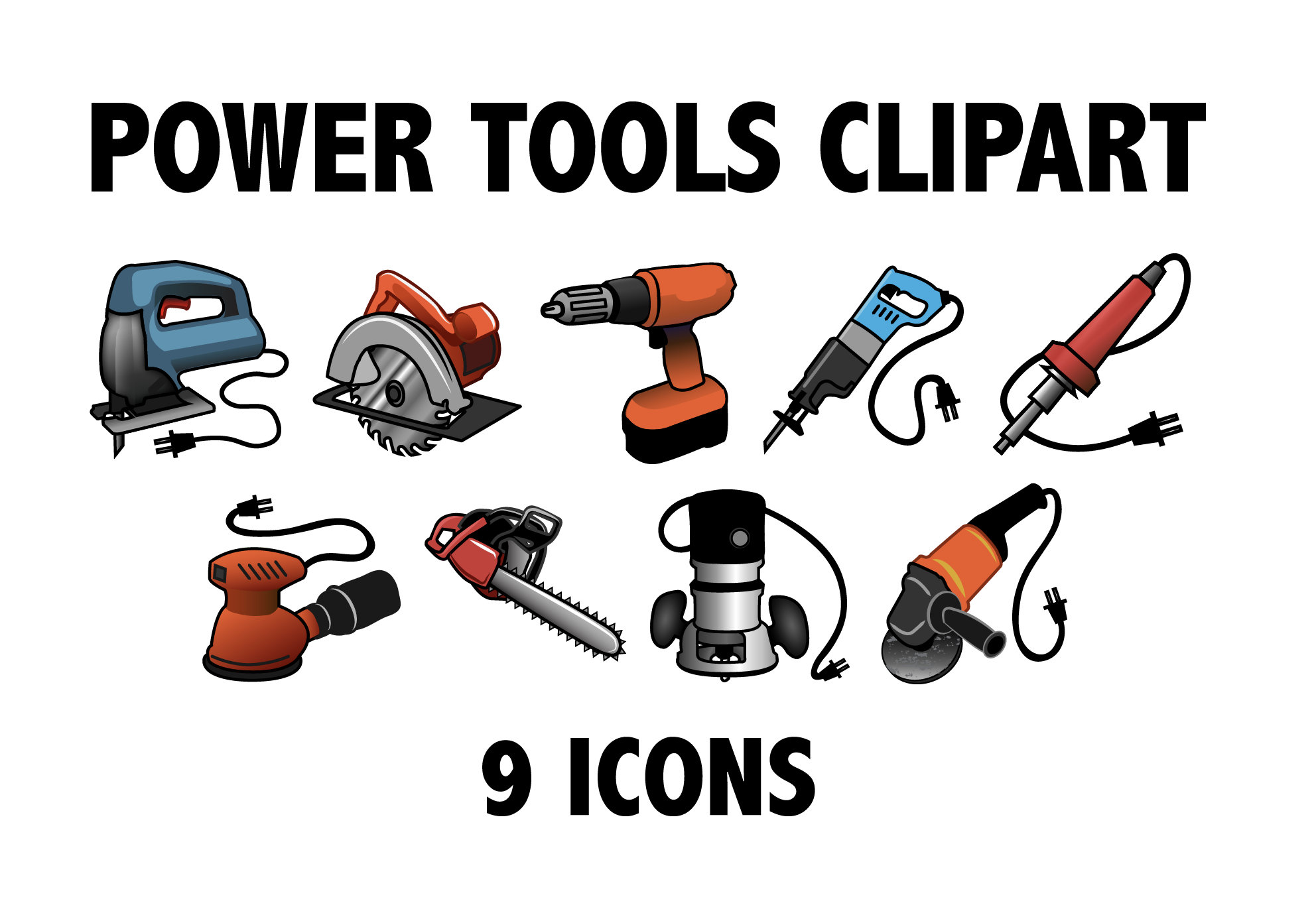 POWER TOOLS CLIPART.