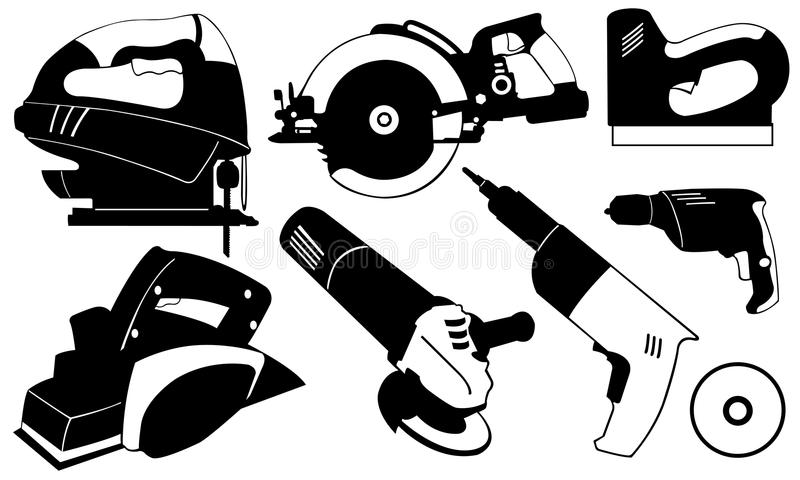 Power Tools Stock Illustrations.