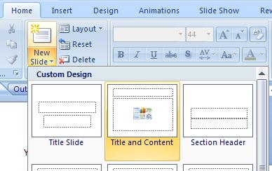 Insert a Clip Art Image Using a Slide Layout : Clip Art « WordArt.