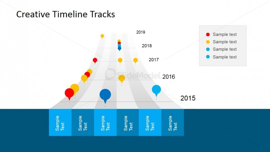Timeline Tracks & Bubble Clipart for PowerPoint.