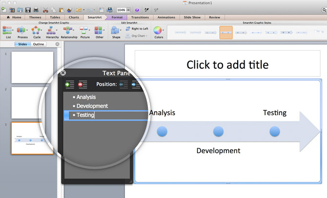 Using SmartArt Graphics to Make a Timeline in PowerPoint 2011 for.