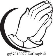Praying Hands Bible Clip Art.