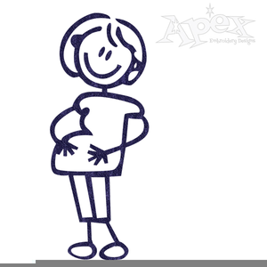 Free Clipart Pregnant Lady.