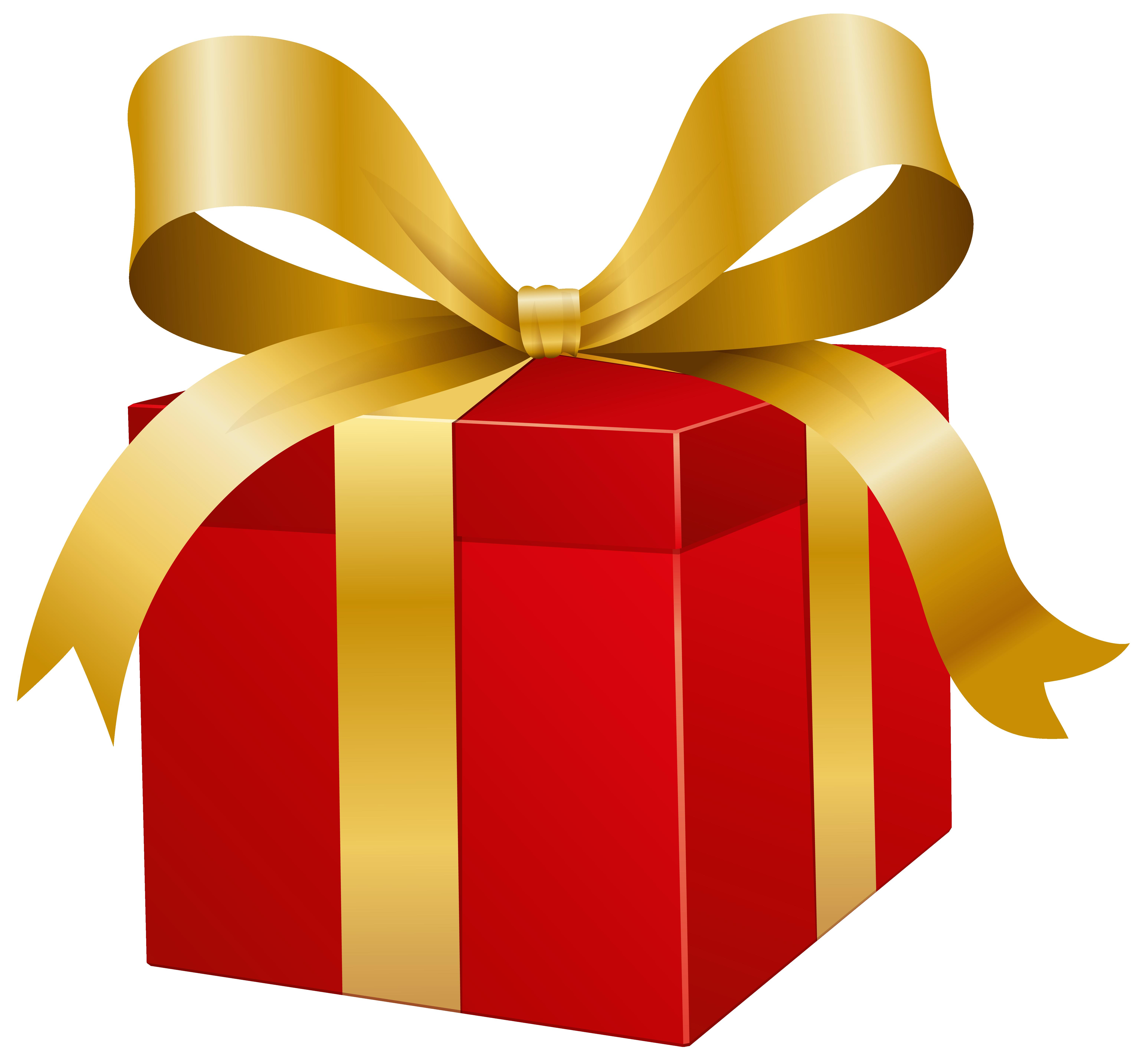 Red Present Box PNG Clip Art.