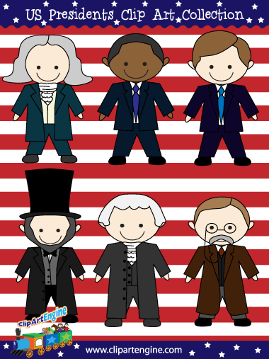 Presidents of the United States of America Clip Art.