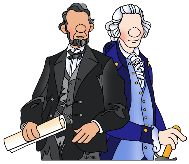 Holiday Clip Art by Phillip Martin, Presidents Day.